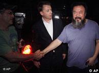آی ویوی به هنگام آزادی از زندان