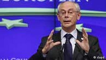 EU-Ratspräsident Van Rompuy beim EU-Gipfel am 23.6.2011