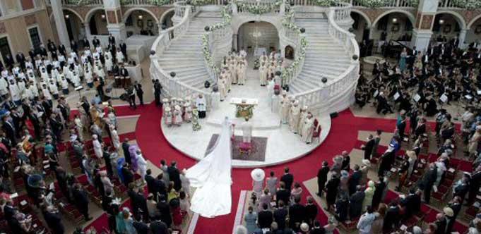 Blick in den Palast während der Trauung (Foto: AP)
