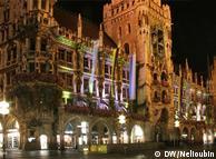 慕尼黑市政厅夜景