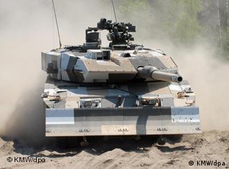 A Leopard II battle tank