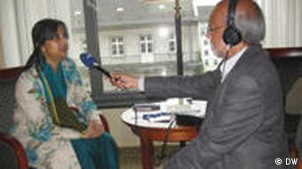 Ms.Tarana Halim, MP - member of the Parliamentary Standing Committe accompanied Mr.Abul Kalam Azad, minister for Information & cultural affairs of Bangladesh to Berlin in July 2011. Foto: DW/Abdullah Al-Farooq, 02.07.2011, Berlin