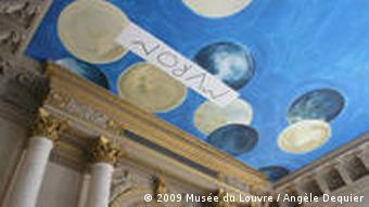 Twombly's ceiling painting at the Louvre