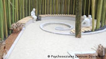 Im Modell ist der Bambus für den Trauerort schon hochgewachsen (Foto: PSZ)