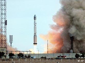 Запуск ракеты с космодрома Байконур
