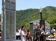Verski obred u Brauncu na vojničkom groblju