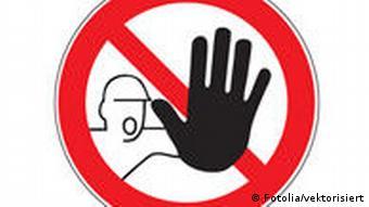 Zeichen Zutritt für Unbefugte verboten © vektorisiert #29598131 - Fotolia.com, Undatierte Aufnahme, Eingestellt 13.07.2011