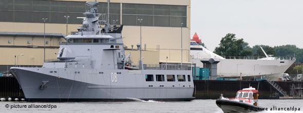 یک نمونه از کشتیهای نظامی گشت ساحلی ساخت شرکت لورسن