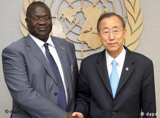 اقوام متحدہ کے سربراہ اور جنوبی سوڈان کے نائب صدر