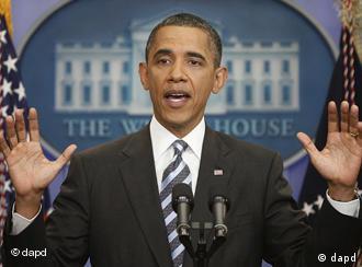 Presiden AS Obama dalam konferensi pers masalah perundingan anggaran