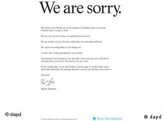Извинувањето ќе биде објавено и во утрешните (17.07) изданија