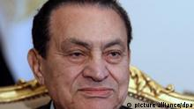 Verwirrung um Mubaraks Gesundheitszustand Portrait Porträt
