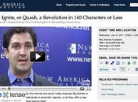 بنیاد New America اخیرا با همکاری مجله اسلیت و دانشگاه آریزونا، کنفرانسی با عنوان «انقلاب در ۱۴۰ کاراکتر، یا کمتر» در آمریکا برگزار کرده است