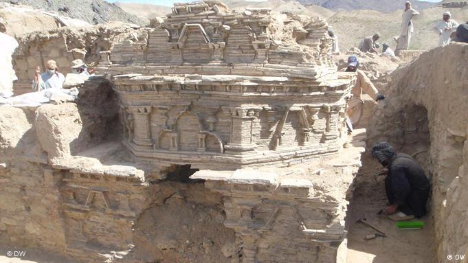 Ganze Tempelanlagen befinden sich unter der Erde von Mes Aynak (Foto: DW)