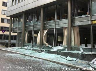 Први фотографии од експлозијата во Осло