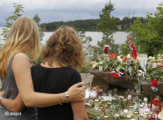 An undated image obtained from the Twitter page of Anders Behring Breivik