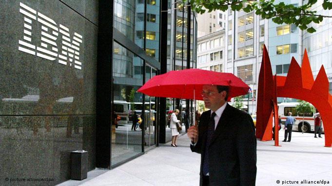 IBM Logo Gebäude Fassade New York Flash-Galerie (picture alliance/dpa)
