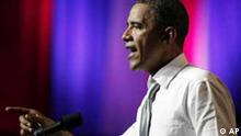 President Barack Obama speaks at the Aragon Ballroom, Wednesday, Aug. 3, 2011, in Chicago, at a fundraiser on the eve of his 50th birthday. (Foto:Carolyn Kaster/AP/dapd)