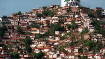 Wassertank auf dem Hügel von Caracas Venezuela