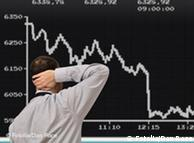 graph showing stock market losses