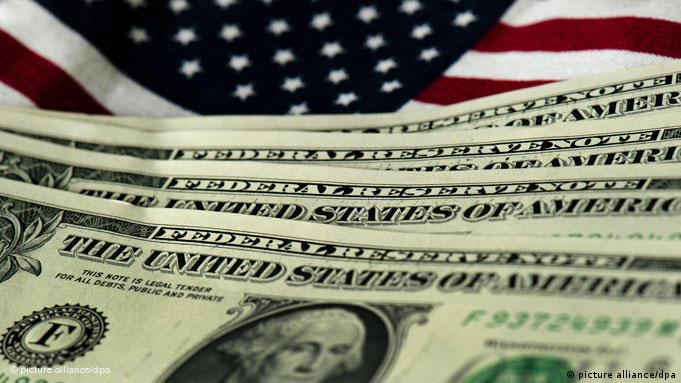 USA Schuldenkrise Dollar Flagge Fahne Finanzkrise Symbolbild Flash-Galerie