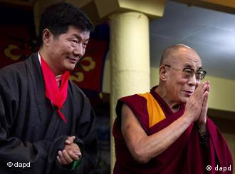 Lobsang Sangay has taken over from the Dalai Lama as the Tibetans' political leader