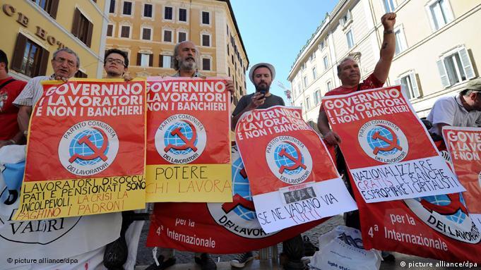 Italien Finanzen Sparen Proteste in Rom FLASH-GALERIE