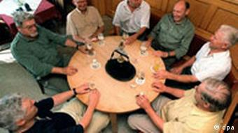 A group of men in a local pub