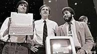 Steve Jobs, John Sculley i Steve Wozniak