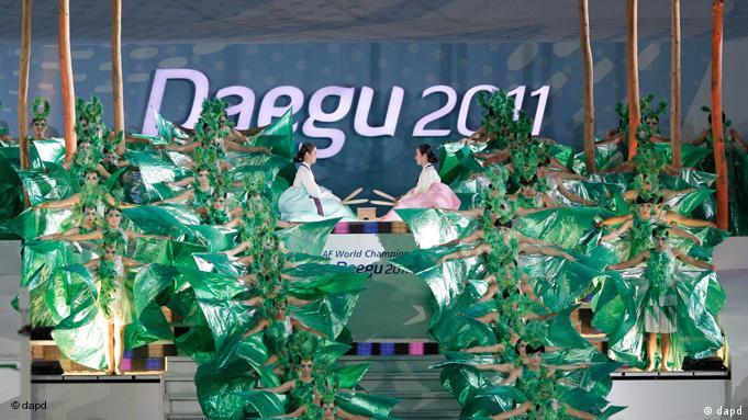 Sport Leichtathletik Weltmeisterschaften Daegu Südkorea Eröffnungszeremonie Flash-Galerie (dapd)