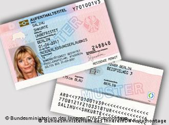 An example of the electronic residence permits
