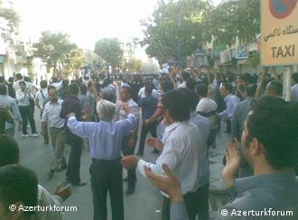 تظاهرات مردم آذربایجان در اعتراض به خشک شدن دریاچه ارومیه