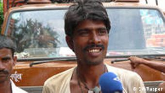 Hassid, a construction worker, in Delhi
