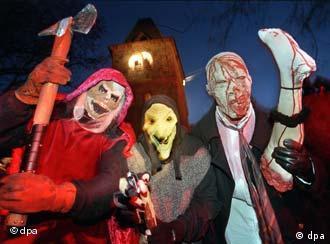 Halloween ist die Nacht der finsteren Gestalten