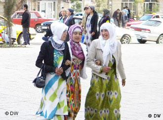 Женщины в мусульманской одежде на