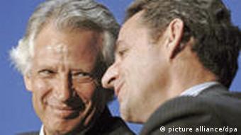 Frankreich Nicolas Sarkozy Dominique de Villepin Paris