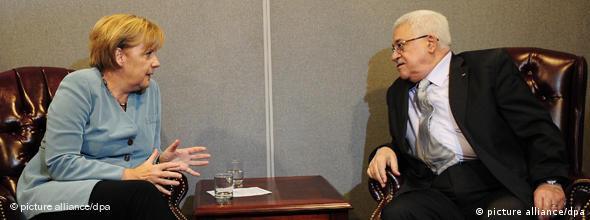 NO FLASH Merkel Abbas Deutschland gegen UN Inititative in Palästina