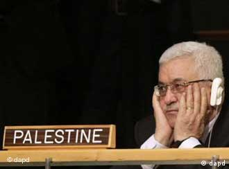 Президент Палестинської автономії Махмуд Аббас слухає виступ Обами у Нью-Йорку