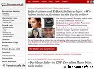A screenshot from literatur-cafe.de
