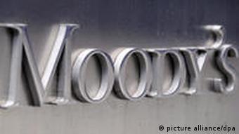 Der Schriftzug der US-Ratingagenur Moody's aufgenommen in New York, Foto: dpa