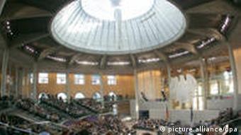 The Bundestag debate