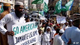 Demonstrators protest US drone attacks in Pakistan