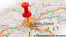 Slovenien Ljubljana Karte Pin Stecknadel