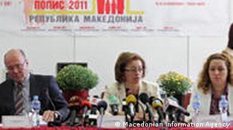 Beginn der Volkszählung in Mazedonien 2011 (Macedonian Information Agency)