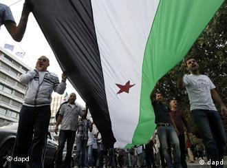 Syrians protesting