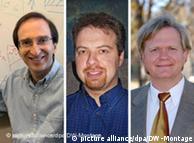 Слева направо: Сол Пёрлмуттер, Адам Рисс, Брайан Шмидт