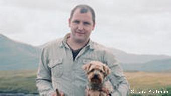 Donald John Mackenzie with his dog