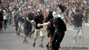 Greeks protest in Athens