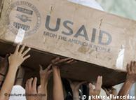 Ajuda humanitária vinda dos Estados Unidos