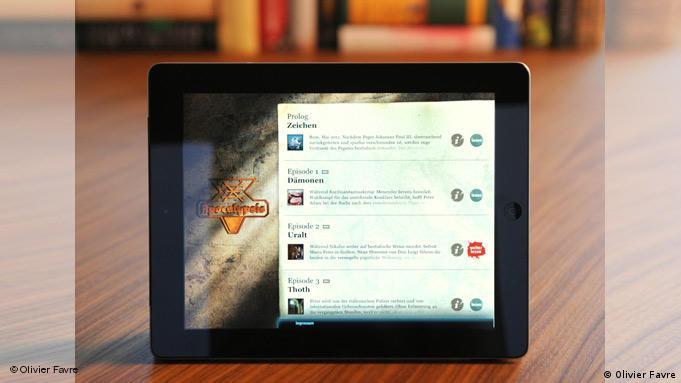 E-Book de la editorial alemana Bastei Lübbe en un iPad.